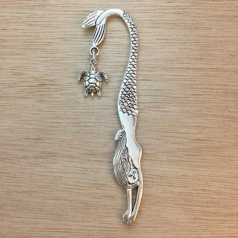 Mermaid and Turtle Bookmark - Bookmark - AlphaVariable