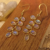 Gold Moonstone Earrings - Earrings - AlphaVariable