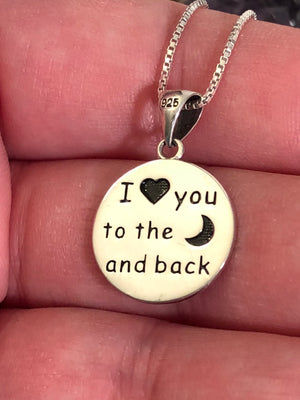 I Love You To The Moon And Back Necklace - Necklace - AlphaVariable