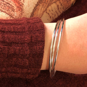 Interlocking Silver Ring Bracelet - Bracelet - AlphaVariable