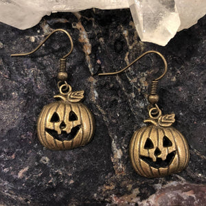 Jack-O-Lantern Earrings - earrings - AlphaVariable