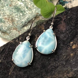 Larimar Necklace and Earrings SET - Jewelry Sets - AlphaVariable