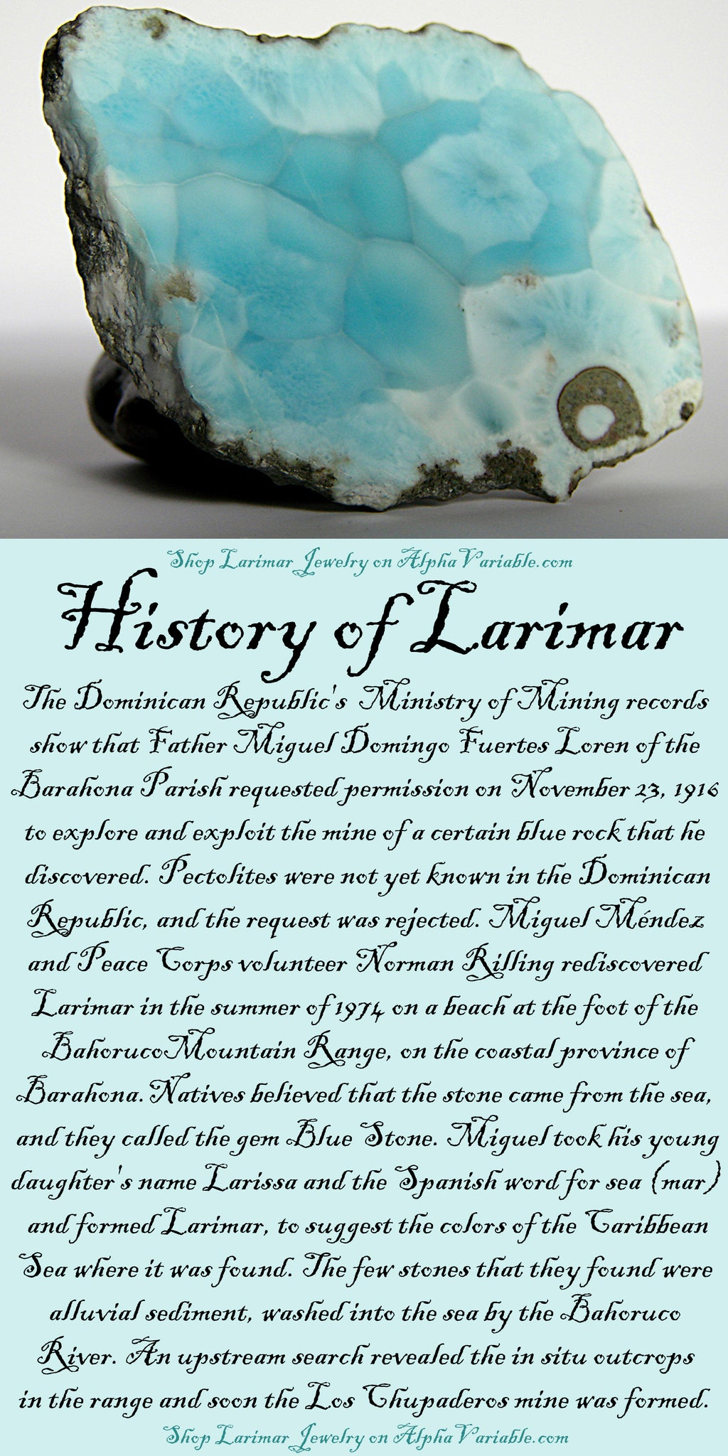 Larimar History and Meaning