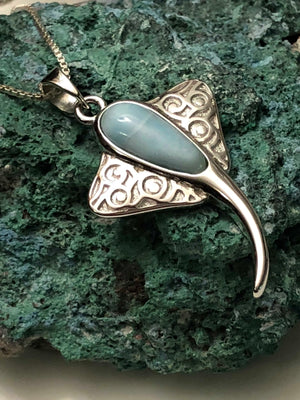 Larimar Stingray Necklace - Necklace - AlphaVariable