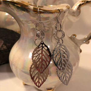 Leaf Earrings - Earrings - AlphaVariable