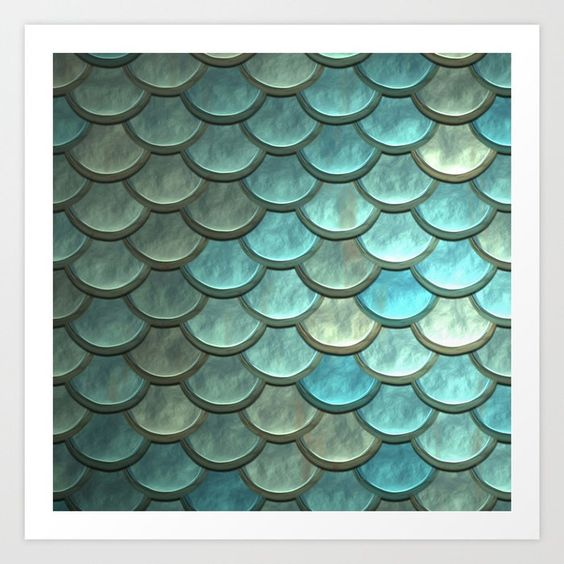 Mermaid Scales Art Print - Art Print - AlphaVariable