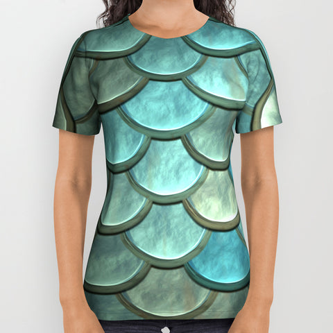 Mermaid Scales T-Shirt - Shirts - AlphaVariable