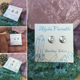 Moon and Star Earrings - Earrings - AlphaVariable