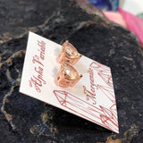 Morganite Heart Earrings -  - AlphaVariable