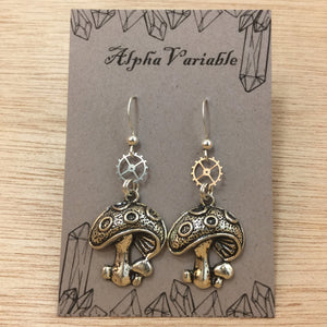 Mushroom Earrings - Earrings - AlphaVariable