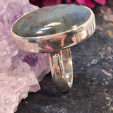 Oval Labradorite Ring - Ring - AlphaVariable