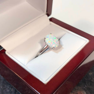 Oval Opal Engagement Ring - Ring - AlphaVariable