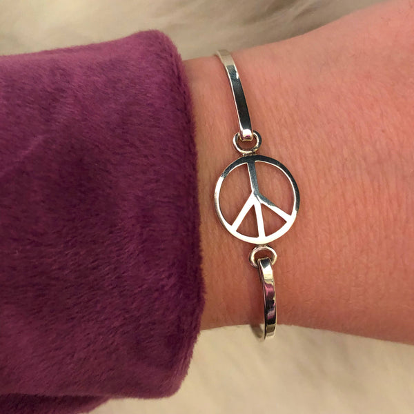 Peace Sign Bracelet - Bracelet - AlphaVariable