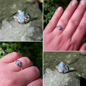 Pink Opal Ring - Ring - AlphaVariable