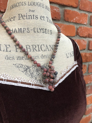 Red River Jasper Agate Necklace - Necklace - AlphaVariable