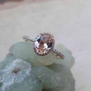 Rose Gold Morganite Ring - Ring - AlphaVariable