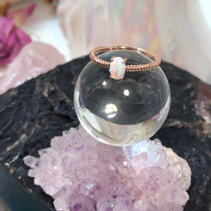 Rose Gold Engagement Opal Ring