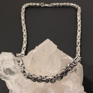 Stainless Steel Byzantine Chain Necklace - Necklace - AlphaVariable