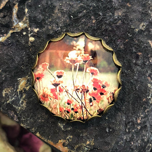Resin Flower Pin