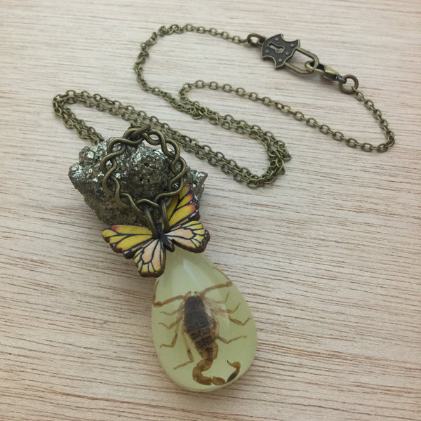 Scorpion Butterfly Necklace - Necklace - AlphaVariable