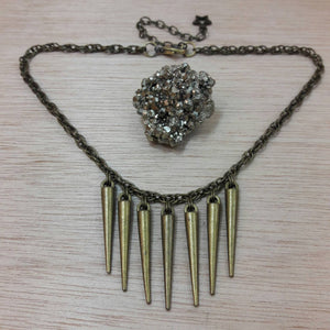 Steampunk Spike Necklace - Necklace - AlphaVariable