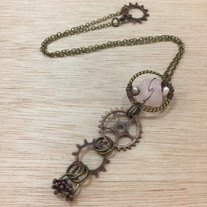Rose Quartz Necklace - Necklace - AlphaVariable