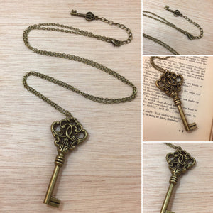 Skeleton Key Necklace - Necklace - AlphaVariable