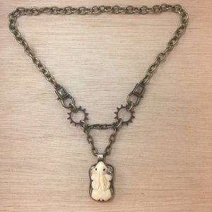 Bone Bunny Necklace - Necklace - AlphaVariable