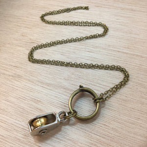 Steampunk Nail & Pulley Necklace - Necklace - AlphaVariable