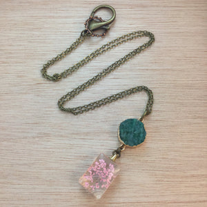 Druzy Flower Necklace - Necklace - AlphaVariable