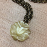 Cat's Eye Flower Necklace - Necklace - AlphaVariable