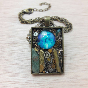 Steampunk Galaxy Necklace - Necklace - AlphaVariable