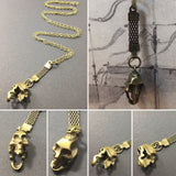 Steampunk Skull Necklace - Steampunk Necklace - AlphaVariable