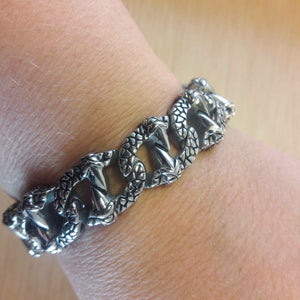 Stainless Steel Dragon Bracelet - Bracelet - AlphaVariable