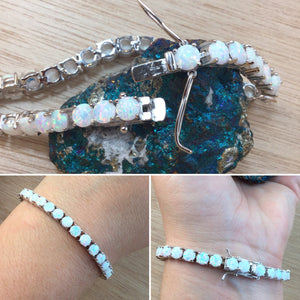 Opal Tennis Bracelet - Bracelet - AlphaVariable