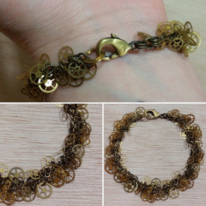 Steampunk Gear Bracelet - Bracelet - AlphaVariable