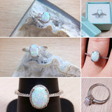 Opal Ring Sterling Silver - Ring - AlphaVariable
