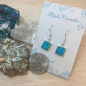 Sterling Silver Opal Earrings - Earrings - AlphaVariable LifeStyle Brand