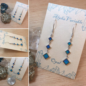 Blue Opal Earrings - Earrings - AlphaVariable