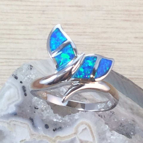 Opal Whale Tail Ring - Rings - AlphaVariable
