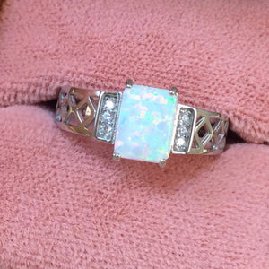 Rectangle Opal Ring - Ring - AlphaVariable