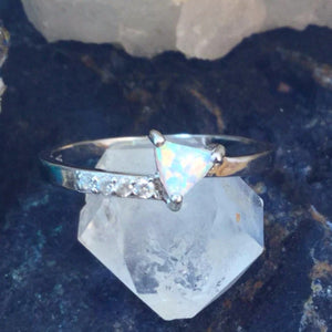Triangle Opal Ring - Rings - AlphaVariable