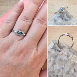Evil Eye Opal Ring - Ring - AlphaVariable