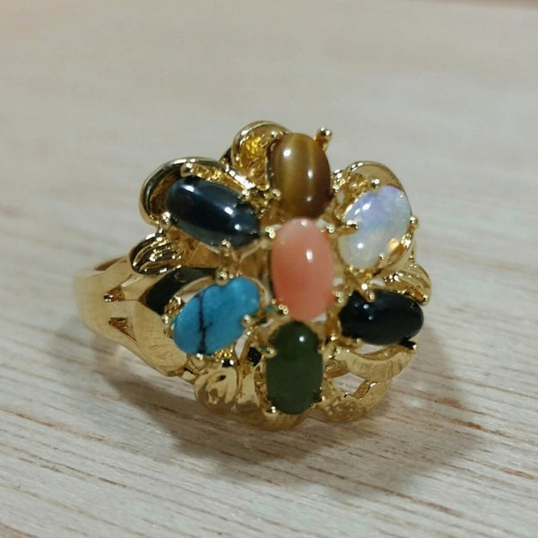Vintage Multistone Cocktail Rings - Rings - AlphaVariable
