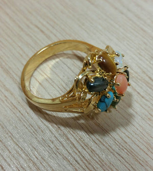Vintage Multistone Cocktail Rings - Ring - AlphaVariable