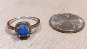 Blue Square Opal Ring - Ring - AlphaVariable