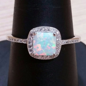 Sterling Silver Opal Ring - Rings - AlphaVariable LifeStyle Brand