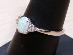 Opal CZ Ring - Ring - AlphaVariable