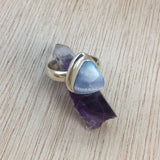 Sterling Silver Boulder Opal Ring - Rings - AlphaVariable