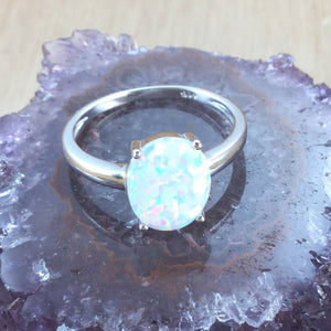 Oval Opal Ring - Ring - AlphaVariable